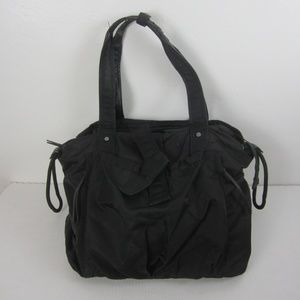 Lululemon Om Tote Black Nylon Yoga Workout Bag
